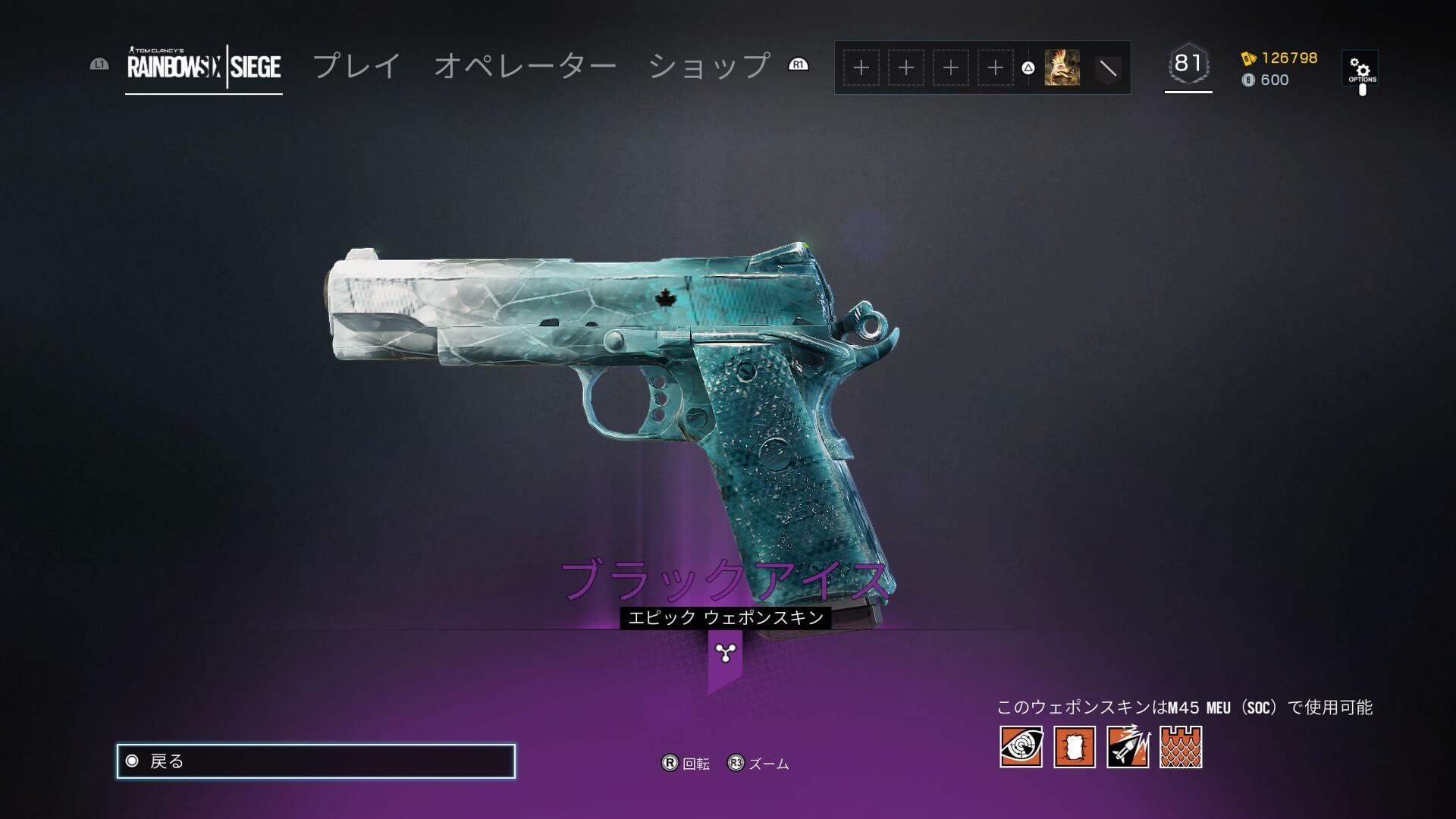 r6sの武器スキン「ブラックアイス」