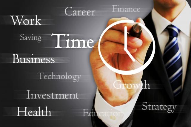 ビジネスマンと時間