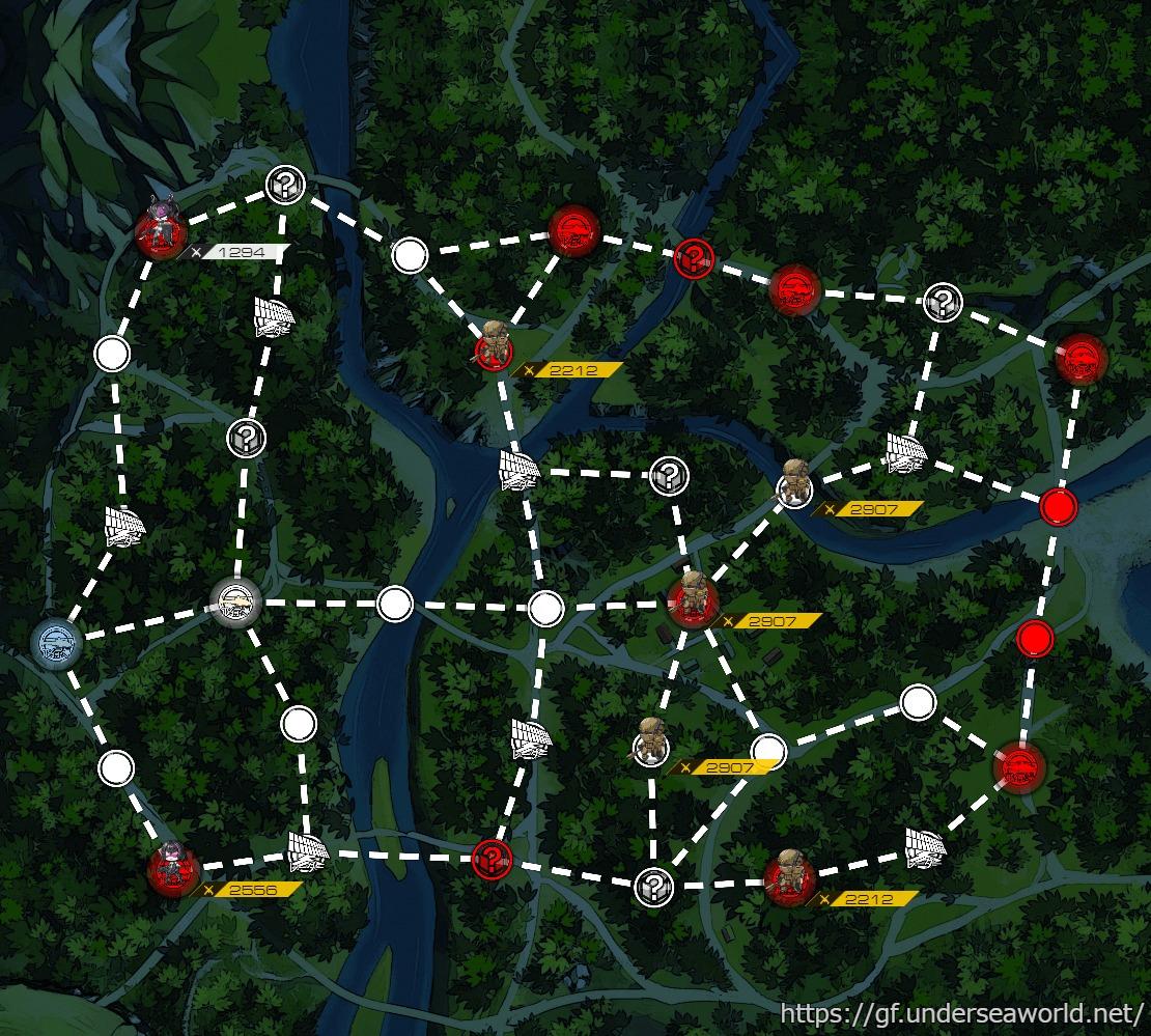 コーナーファーストのマップ