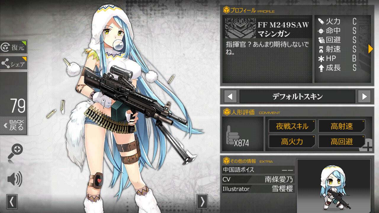 ドルフロの図鑑FF M249SAW